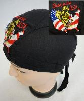 Embroidered Skull Cap [Born in the USA]